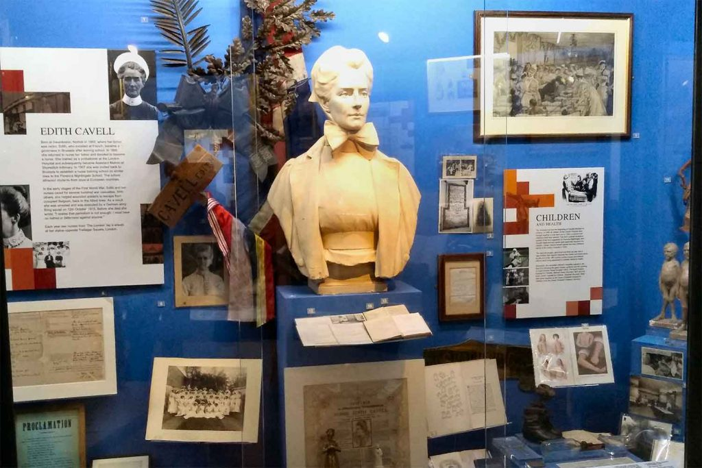 Edith Cavell Exhibit at the Royal London Hospital Museum