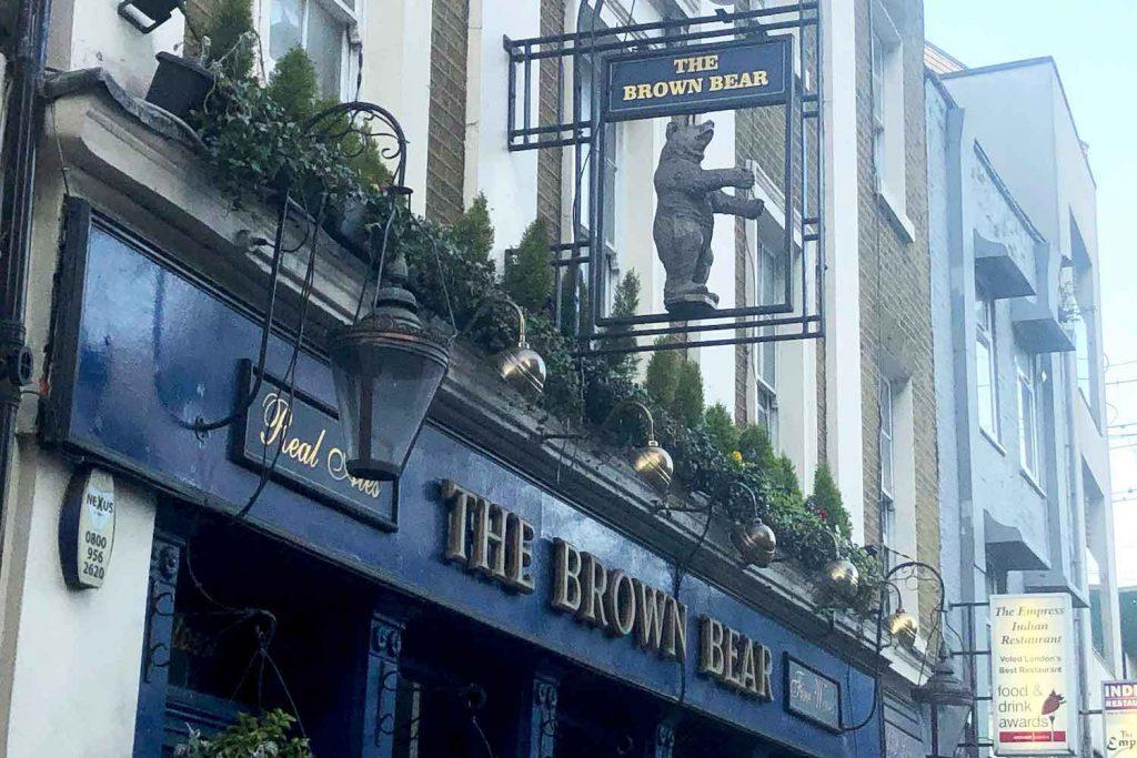 The Brown Bear Pub, Whitechapel, East London