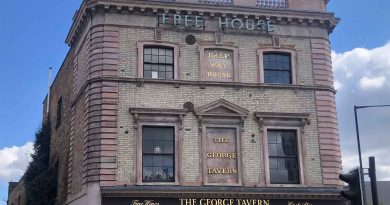Exterior of Georage Tavern public house, Commercial Road.