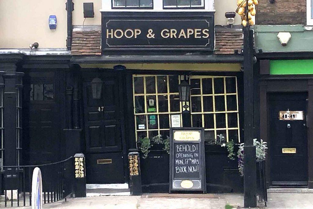 Hoop & Grapes pub, Whitechapel, East London
