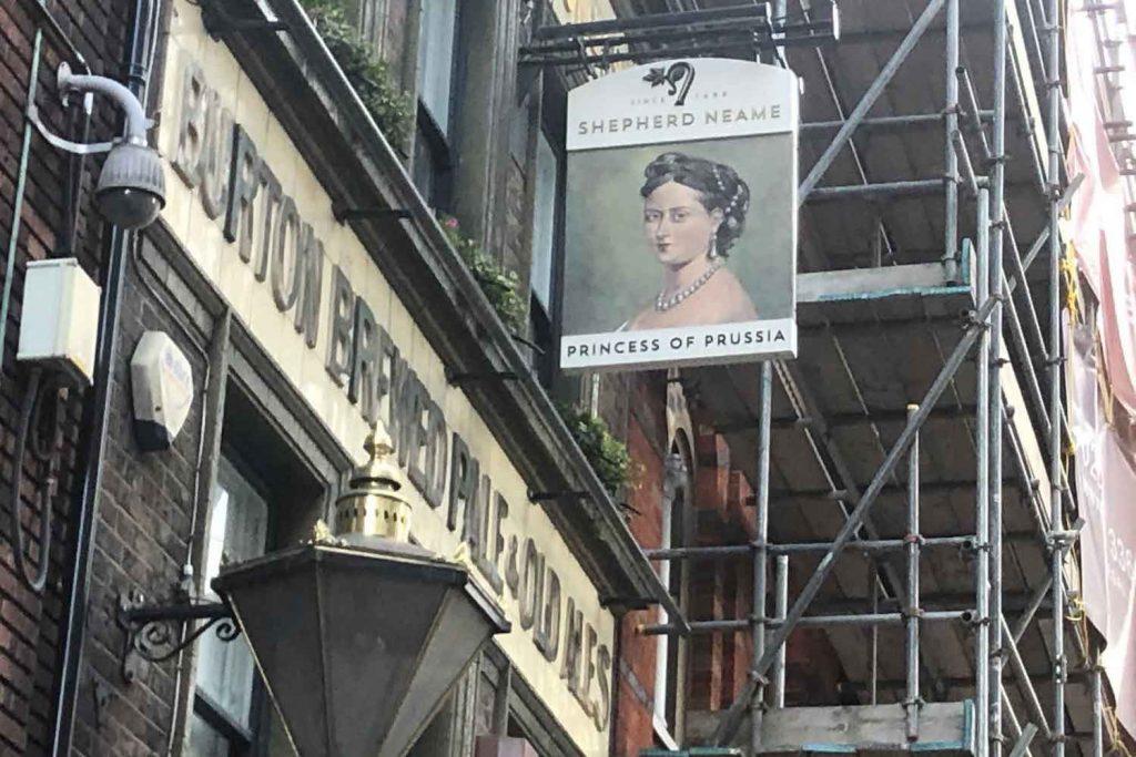 Princess of Prussia pub, Whitechapel, East London