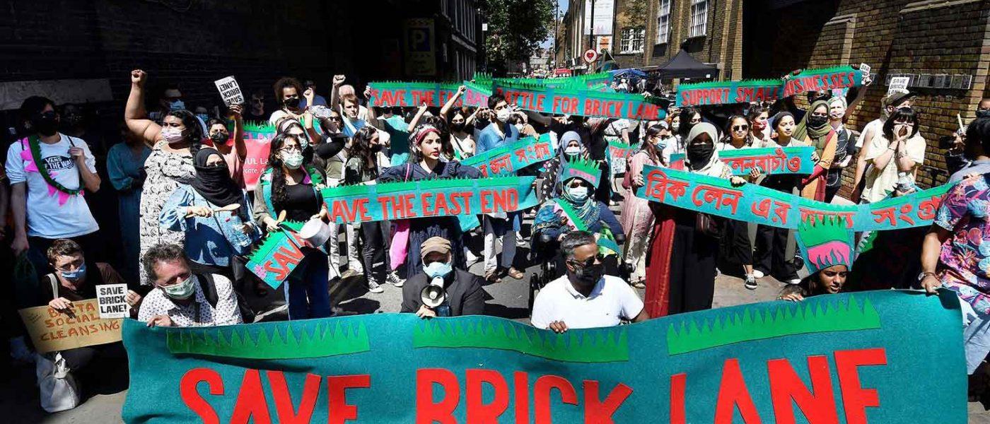 Whitechapel locals march to 'Save Brick Lane'