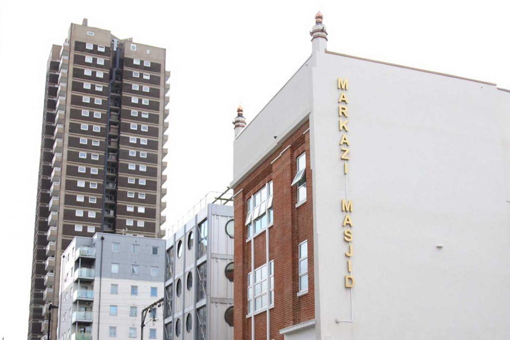The Markazi Masjid is located on Christian Street, Whitechapel, East London.